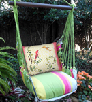 Fresh Lime Hummingbirds Hammock Chair Swing Set