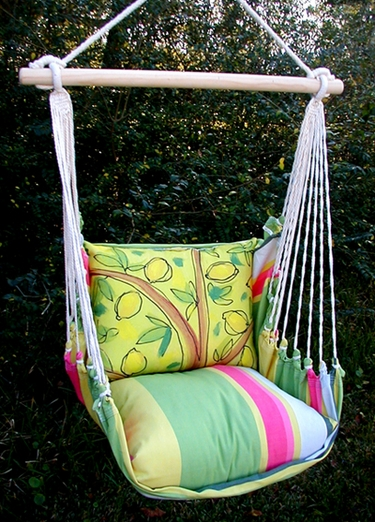 Fresh Lime Lemon Tree Hammock Chair Swing Set - Click to enlarge