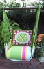 Fresh Lime Monogram Hammock Chair Swing Set