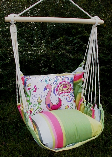 Fresh Lime Peacock Hammock Chair Swing Set - Click to enlarge