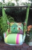 Fresh Lime Birdcage Garden Hammock Chair Swing Set