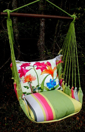 Fresh Lime Spring Fling 1 Hammock Chair Swing Set - Click to enlarge
