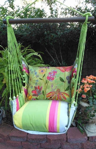 Fresh Lime Spring Mix Hammock Chair Swing Set - Click to enlarge