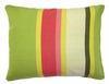 Fresh Lime Stripe Outdoor Pillow