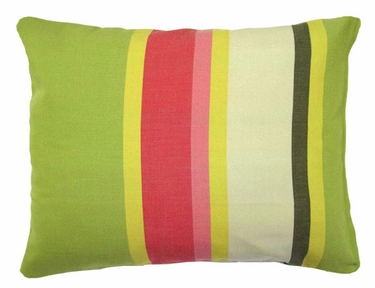 Fresh Lime Stripe Outdoor Pillow - Click to enlarge