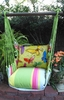 Fresh Lime Swirly Butterflies Hammock Chair Swing Set