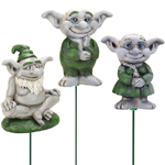 Friendly Troll Plant Stakes (Set of 3)