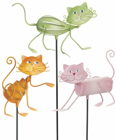 Frisky Cat Garden Stakes (Set of 3) - Click to enlarge