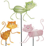 Frisky Cat Garden Stakes (Set of 3)