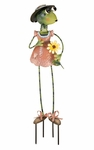 Frog Lady Garden Decor