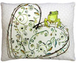 Frog on Heart Outdoor Pillow