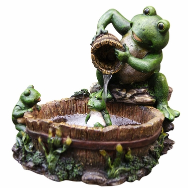 Frog Prince Grooming Tabletop Fountain - Click to enlarge