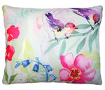 Garden Aviary - 2 Birds Outdoor Pillow