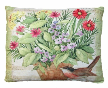 Garden Blessings - Robin Outdoor Pillow - Click to enlarge