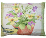 Garden Blessings - Yellow Bird Outdoor Pillow