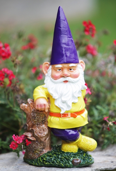 Garden Gnome Hipster - Purple Hat - Click to enlarge