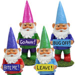 Garden Gnomes w/Attitudes (Set of 4)
