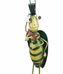 Garden Grasshopper w/Top Hat