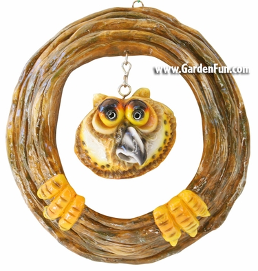 Garden Owl Tree Face Decor - Click to enlarge