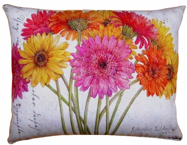 Gerbera Bouquet 1 Outdoor Pillow - Click to enlarge