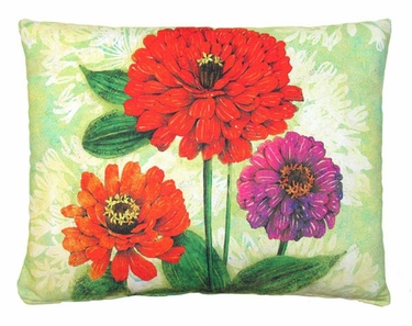 Gerbera Trio Outdoor Pillow - Click to enlarge