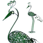 "Giant 61"" Garden Flower Bird - Green"