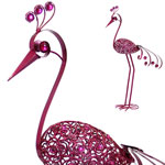 "Giant 61"" Garden Flower Bird - Pink"
