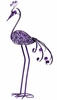 "Giant 61"" Garden Flower Bird - Purple"
