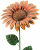 Giant Rustic Orange Daisy Stake