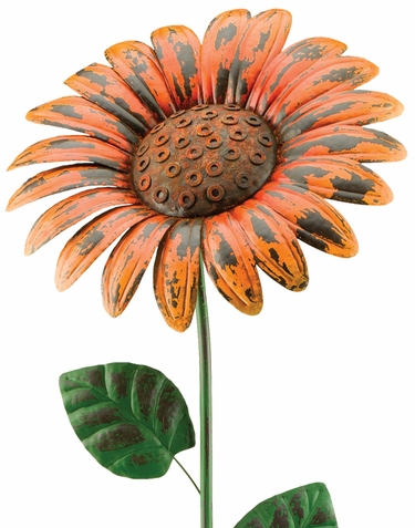 Giant Rustic Orange Daisy Stake - Click to enlarge