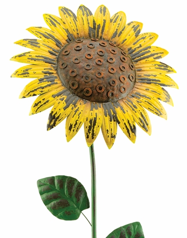 Giant Rustic Yellow Sunflower Stake - Click to enlarge