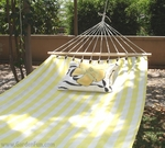 Gingham Yellow Fabric Hammock
