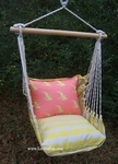 Gingham Yellow Goldfish Hammock Chair Swing Set
