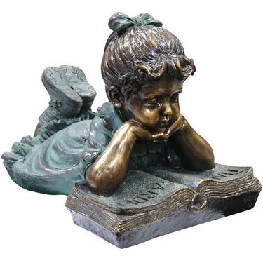 Girl Reading Garden Statue - Click to enlarge