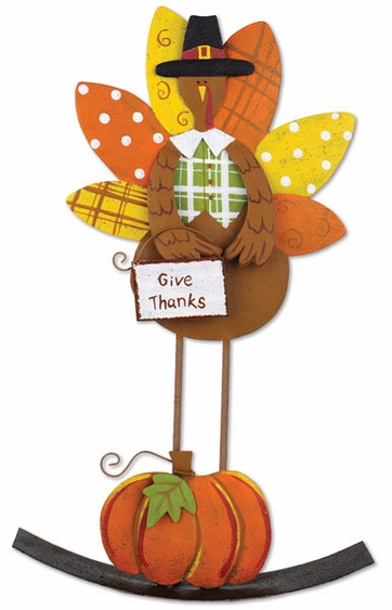 Give Thanks Turkey Rocker - Click to enlarge