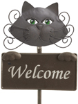 Glamour Cat Welcome Sign