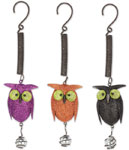 Glitter Metal Owl Bouncies (Set of 3)