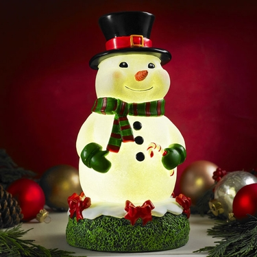 Glow Anywhere LED Snowman Statue - Click to enlarge