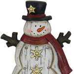 "15"" LED Snowman  Marquee Statue"