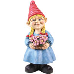 Gnome Girl w/Flower Basket