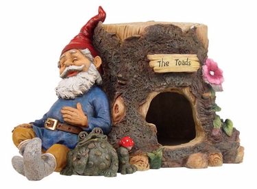 Gnome Sleeping on Toad House - Click to enlarge