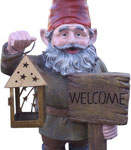 Gnome Statue w/Welcome Sign