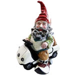 Golf Gnome in Golf Cart