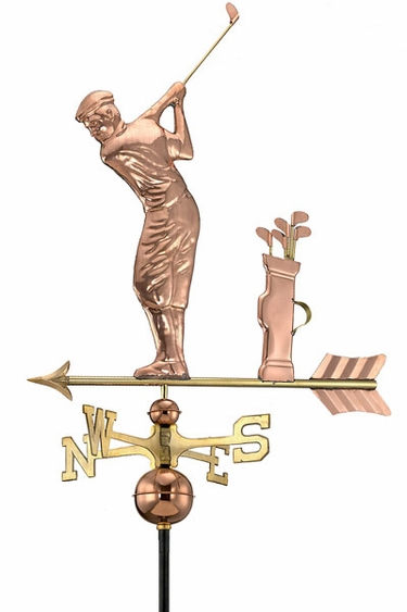 Golfer Weathervane - Click to enlarge