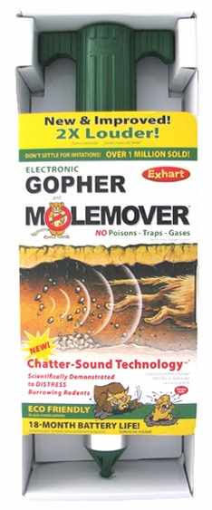 Gopher-It by Exhart: Rodent Control w/Chatter-Sound Technology - Click to enlarge