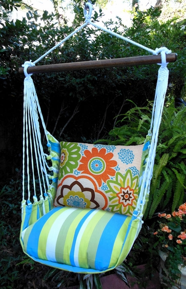 Graphic Florals Hammock Chair Swing Set - Click to enlarge