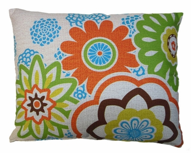 Graphic Florals Outdoor Pillow - Click to enlarge