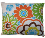 Graphic Florals Outdoor Pillow