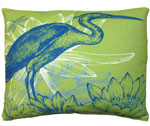 Green Heron Outdoor Pillow
