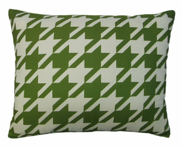 Green Houndstooth Outdoor Pillow - Click to enlarge